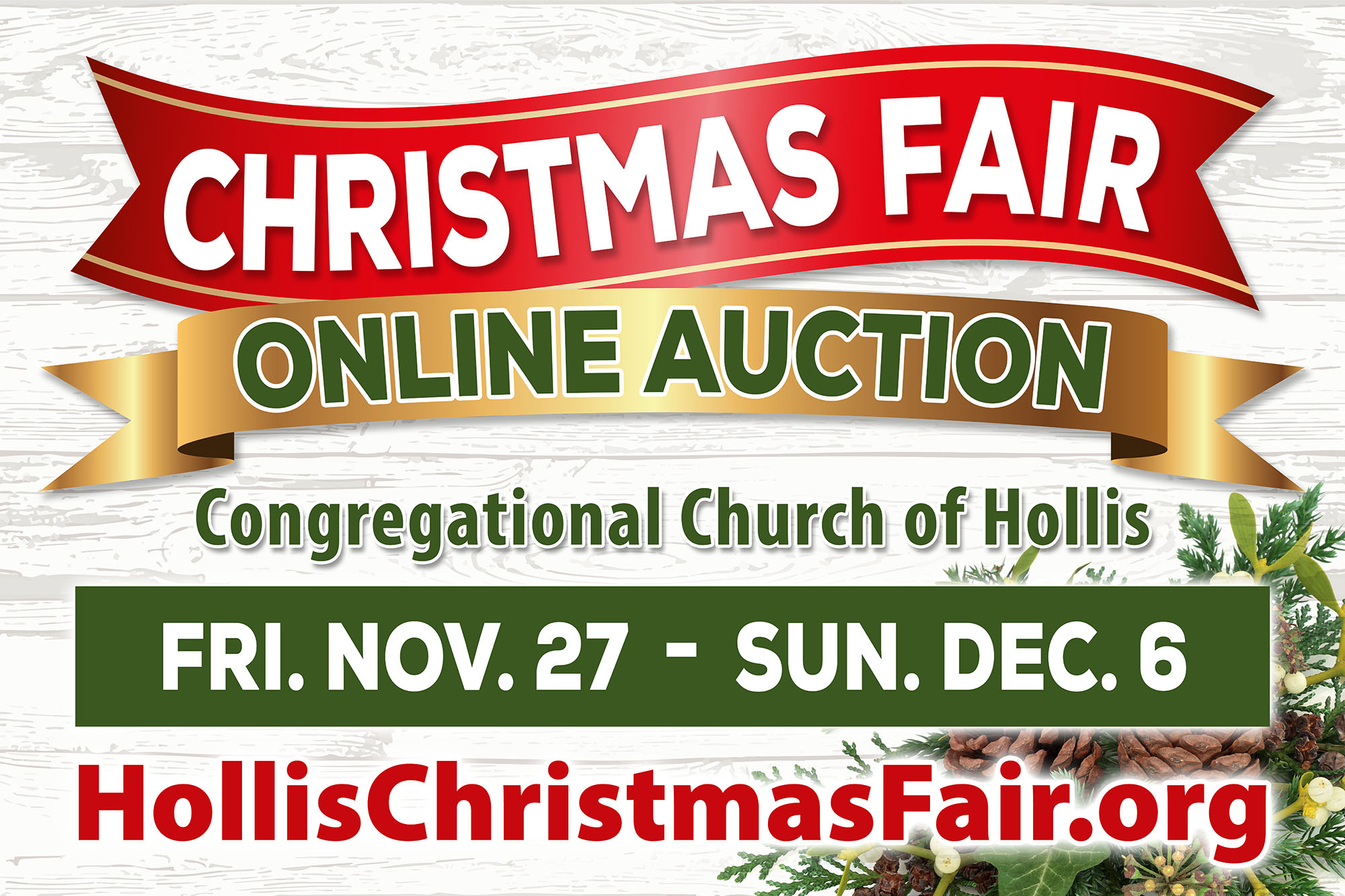 Christmas Fair Online Auction – Congregational Church of Hollis
